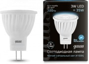 Светодиодная LED лампа Gauss MR11 3W GU4 AC220-240V 4100K 132517203