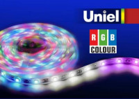 Светодиодная лента Uniel ULS-Q214 5050-30LED/m-10mm-IP65-DC12V-7,2W/m-5M-RGB