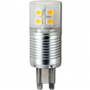 Светодиодная лампа Ecola G9 LED 4,1W Corn Mini 220V 6400K 300° (алюм. радиатор) 65x23 G9CD41ELC