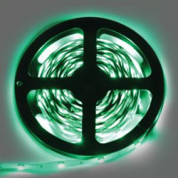 Светодиодная LED лента Ecola LED strip 220V STD 14,4W/m IP68 14x7 60Led/m Green 20м. S20G14ESB