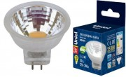 Светодиодная LED лампа Uniel G4 MR11 220V 3W(200lm 110°) 3000K 2K пластик 35x35 без стекла LED-MR11-3W/WW/GU4/220V GLZ21TR иUL-00001702