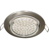 Светильник Ecola GX53 H4 Downlight without reflector_satin chrome (светильник) 38х106 FS53P2ECB